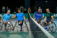 Rotterdam, The Netherlands, 11 Februari 2020, ABNAMRO World Tennis Tournament, Ahoy, <br /> Wheelchair tennis: Maikel Scheffers (NED) and Tom Egberink (NED), Daniel Caverzaschi (ESP) and Martin De La Puente (ESP).<br /> Photo: www.tennisimages.com