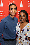 Kyle Beltran and Kristolyn Lloyd during the Opening Night after party for Atlantic Theater Company's 'The Mother' at The Gallery at the Dream Downtown on March 11, 2019 in New York City.
