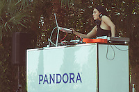 DJ Sosupersam performs at the Pandora Indio Invasion Un-leashed By T-Mobile Featuring Questlove pool party at Coachella on April 11, 2015. (Photos by Dave Rosenblum/ Guest of a Guest)