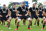 Jamison Gibson-Park (L), Ben May, Elliot Dixon, Charlie Ngatai, Blade Thomson. Maori All Blacks vs. Fiji. Suva. MAB's won 27-26. July 11, 2015. Photo: Marc Weakley