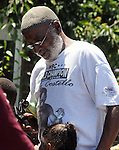 Well-known Community Activist, Ishmael Shabazz, seen at the 11th Annual Mid-town Make a Difference Day Celebration on Franklin Street, in Kingston, NY on Saturday, June  18, 2016. Photo by Jim Peppler. Copyright Jim Peppler 2016.