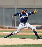 Jeremy Jeffress - Milwaukee Brewers - 2009 spring training.Photo by:  Bill Mitchell/Four Seam Images