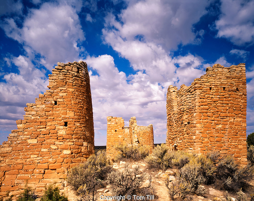 Hovenweep Castle and Clouds, Hovenweep National Monument, Outlier of Mesa Verde Culture, Utah