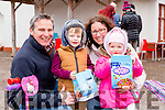 Eamon, Eamon Jnr, Marcella and Emily Whitty at the Easter Egg hunt in Deenagh Cottage on Monday