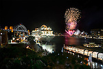 Celebrations on Sydney Harbour for the inaugural visit of a MSC cruise ship