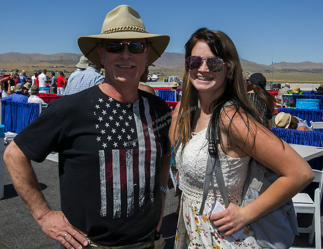 Greg Mellema Emily Mintna the National Championship Air Races in  Reno, Nevada on Saturday, Sept. 14, 2019.
