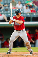 Ryan Lavarnway #36 of the Pawtucket Red Sox at bat against the Charlotte Knights at Knights Stadium on August 11, 2011 in Fort Mill, South Carolina.  The Red Sox defeated the Knights 3-2.   (Brian Westerholt / Four Seam Images)