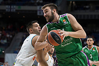 Real Madrid Felipe Reyes and Unicaja Dejan Musli during Turkish Airlines Euroleague match between Real Madrid and Unicaja at Wizink Center in Madrid, Spain. November 16, 2017. (ALTERPHOTOS/Borja B.Hojas) /NortePHoto.com