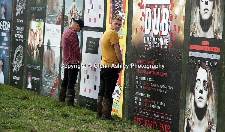 Fans enjoying a bit of relief at the Leeds Festival, United Kingdom on 26 August 2016. Photo by Glenn Ashley.