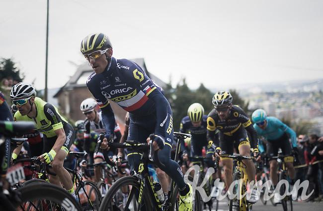 Roman Kreuziger (CZE/ORICA-Scott) up the infamous Mur de Huy<br /> <br /> 81st La Fl&egrave;che Wallonne (1.UWT)<br /> One Day Race: Binche &rsaquo; Huy (200.5km)
