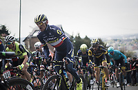 Roman Kreuziger (CZE/ORICA-Scott) up the infamous Mur de Huy<br /> <br /> 81st La Fl&egrave;che Wallonne (1.UWT)<br /> One Day Race: Binche &rsaquo; Huy (200.5km)