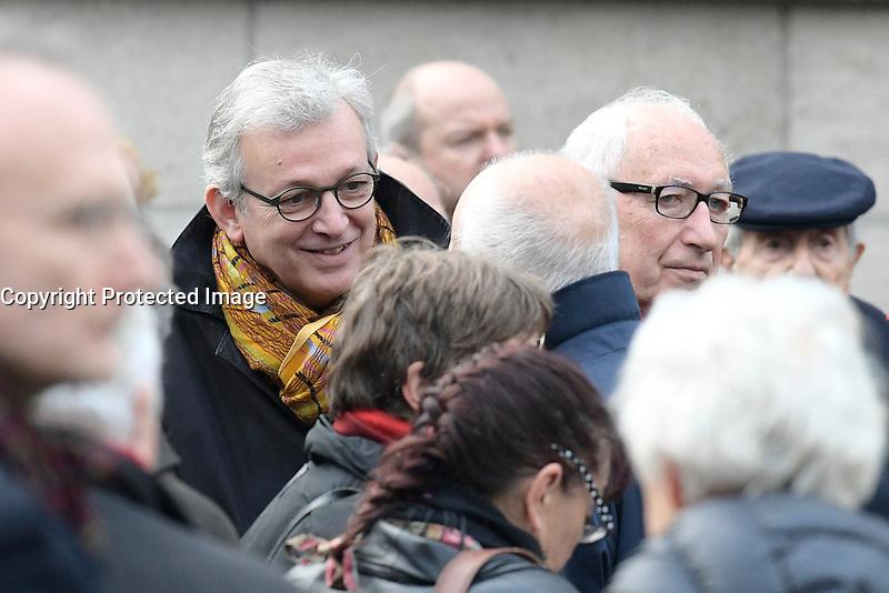 Pierre LAURENT - Obsèques de Jack RALITE - Cimetière du Père Lachaise - Paris, France, 24/11/2017. # OBSEQUES DE JACK RALITE