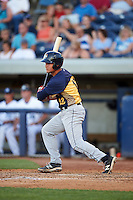 Burlington Bees first baseman Matt Thaiss (12) at bat during a game against the West Michigan Whitecaps on July 25, 2016 at Fifth Third Ballpark in Grand Rapids, Michigan.  West Michigan defeated Burlington 4-3.  (Mike Janes/Four Seam Images)