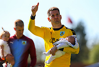 Burnley's Tom Heaton salutes the fans after the match<br /> <br /> Photographer Alex Dodd/CameraSport<br /> <br /> The Premier League - Burnley v Arsenal - Sunday 12th May 2019 - Turf Moor - Burnley<br /> <br /> World Copyright &copy; 2019 CameraSport. All rights reserved. 43 Linden Ave. Countesthorpe. Leicester. England. LE8 5PG - Tel: +44 (0) 116 277 4147 - admin@camerasport.com - www.camerasport.com