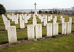 Post 1940 naval burial ground cemetery Shotley Suffolk