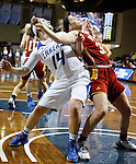 SIOUX FALLS MARCH 22:  Taylor Parmley #14 of Grand Valley State and Madison Northcutt #32 of Pittsburg State work for rebounding position during their quarterfinal game at the NCAA Women's Division II Elite 8 Tournament at the Sanford Pentagon in Sioux Falls, S.D.  (Photo by Dick Carlson/Inertia)