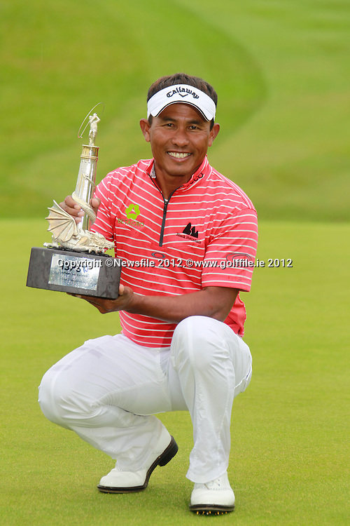 Thongchai Jaidee (THA)wins the tournament by 1 shot at the end of Sunday's Final Round of the ISPS Handa Wales Open presented by The Celtic Manor Resort, Newport, Wales, 3rd June 2012 (Photo Eoin Clarke/www.golffile.ie)