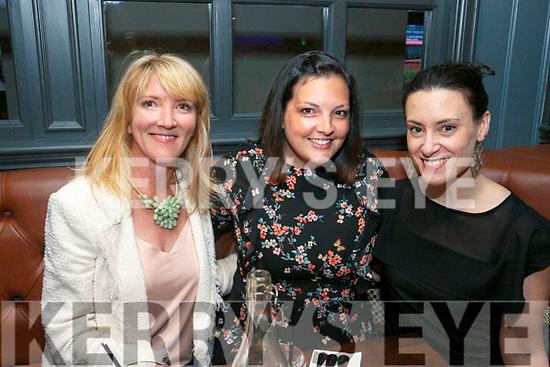 Enjoying the Ashe Hotel Gin Festival on Friday were Melanie O Donnell, Doireann Barretts and Caroline Drummey