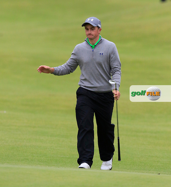 Paul DUNNE (AM)(IRL) walks onto the 18th green during Monday's Final Round of the 144th Open Championship, St Andrews Old Course, St Andrews, Fife, Scotland. 20/07/2015.<br /> Picture Eoin Clarke, www.golffile.ie