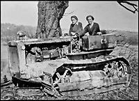BNPS.co.uk (01202 558833)<br /> Pic:   HistoryPress/BNPS<br /> <br /> Joyce Elizabeth Gaster on a Caterpillar tractor.<br /> <br /> These inspiring photos tell the little known story of the patriotic women who chopped down trees to help us win the Second World War.<br /> <br /> When war was declared in September 1939 Britain was almost completely dependent on imported timber and only had seven months worth of it stockpiled.<br /> <br /> With men being sent to the front line in their droves, the Woman's Timber Corps was established to fell trees, operate sawmills and run forestry sites.<br /> <br /> About 15,000 women, some as young as 14, volunteered to carry out the arduous tasks previously done by men.