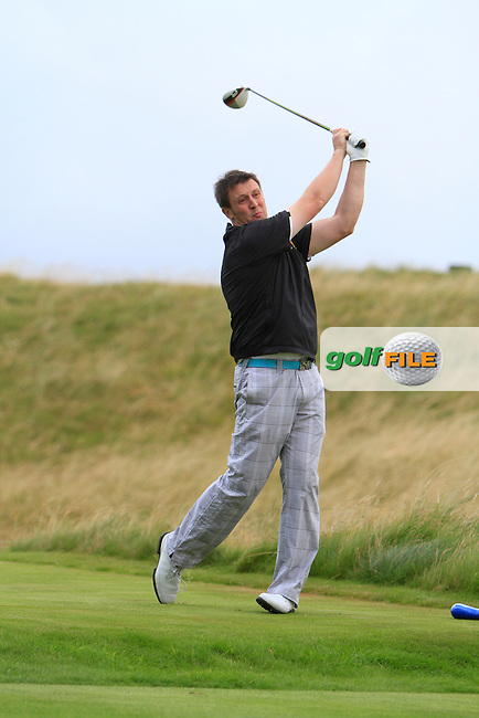 Paul O'Hara (Kilkenny) on the 14th tee during the South of Ireland Amateur Open Championship Third Round at Lahinch Golf Club  29th July 2013 <br /> Picture:  Thos Caffrey / www.golffile.ie