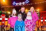 Enjoying the New Year's Eve fireworks Spectacular in Denny Street were Amelia, Mireck, Mattews, Nicolaand Kinga Baran