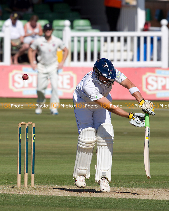 Wes Durston, Derbyshire CCC is LBW to Matt Coles - Kent CCC vs Derbyshire CCC - LV County Championship Division Two Cricket at the St Lawrence Ground, Canterbury - 07/09/12 - MANDATORY CREDIT: Ray Lawrence/TGSPHOTO - Self billing applies where appropriate - 0845 094 6026 - contact@tgsphoto.co.uk - NO UNPAID USE.
