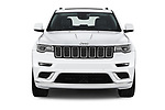Car photography straight front view of a 2018 Jeep Grand-Cherokee Summit 5 Door SUV
