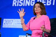 Washington, DC - May 23, 2017: U.S. Rep. Nancy Pelosi participates in the 2017 Fiscal Summit hosted by the Peter G. Peterson Foundation at the Andrew Mellon W. Mellon Auditorium in the District of Columbia May 23, 2017.  (Photo by Don Baxter/Media Images International)