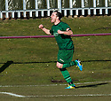Stirling's Chris Geddes scores their first goal.
