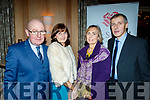 L-R Niall&Mary Daly with Eileen&Johnny Counihan at the Lee Strand social last Saturday night in the Ballygarry House hotel, Tralee.