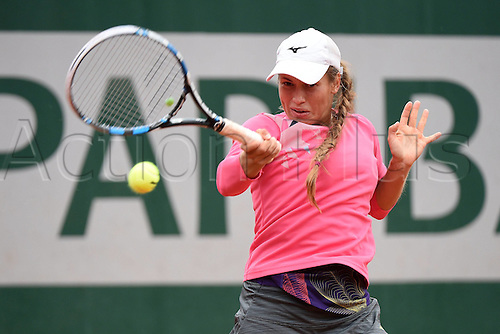 01.06.2016. Roland Garros, Paris, France, French Open tennis championships, day 11.  Yulia Putintseva (KAZ)