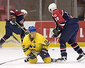 Fredrik Petterson (Frolunda HC - Edmonton Oilers), Bobby Ryan (Owen Sound Attack - Anaheim Mighty Ducks)  The US Blue team lost to Sweden 3-2 in a shootout as part of the 2005 Summer Hockey Challenge at the National Junior (U-20) Evaluation Camp in the 1980 rink at Lake Placid, NY on Saturday, August 13, 2005.