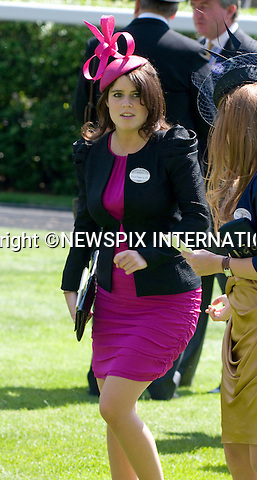 """PRINCESS EUGENIE.Ladies Day of Royal Ascot, Ascot, Berkshire 2010_17/06/2010.Mandatory Photo Credit: ©Dias/Newspix International..**ALL FEES PAYABLE TO: """"NEWSPIX INTERNATIONAL""""**..PHOTO CREDIT MANDATORY!!: NEWSPIX INTERNATIONAL(Failure to credit will incur a surcharge of 100% of reproduction fees)..IMMEDIATE CONFIRMATION OF USAGE REQUIRED:.Newspix International, 31 Chinnery Hill, Bishop's Stortford, ENGLAND CM23 3PS.Tel:+441279 324672  ; Fax: +441279656877.Mobile:  0777568 1153.e-mail: info@newspixinternational.co.uk"""