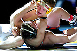 12 MAR 2011: Zac Andrews of Delaware Valley takes on Jacob Groth of Wartburg in the 149 lbs fifth place competition during the Division III Men's Wrestling Championship held at the La Crosse Center in La Crosse Wisconsin. Stephen Nowland/NCAA Photos