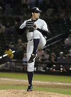 June 17, 2004:  Pitcher Sam Marsonek of the Columbus Clippers, International League (AAA) affiliate of the New York Yankees, during a game at Frontier Field in Rochester, NY.  Photo by:  Mike Janes/Four Seam Images