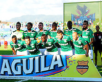 TULUA-COLOMBIA, 27-08-2016. Formacion del Deportivo Cali  contra el Cortuluá  durante encuentro  por la fecha 10 de la Liga Aguila II 2016 disputado en el estadio12 de Octubre de Tuluá./ Team of Deportivo Cali against of Cortulua during match for the date 10 of the Aguila League II 2016 played at 12 de Octubre stadium in Tulua. Photo:VizzorImage / Nelson Rios  / Cont
