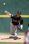 Indianapolis Indians starting pitcher Matt Ginter follows through on his delivery versus the Charlotte Knights at Knights Stadium in Fort Mill, SC, Sunday, August 13, 2006.