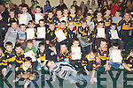 8639-8643.---------.Rising Stars.------------.Tralee Austin Stacks and Kerry footballer Kieran Donaghy,better known as Star,presented the under6 and under8 team members with summer camp certs and medals at the annual prize giving in the Stacks clubhouse in Connolly Pk Tralee last Saturday afternoon.   Copyright Kerry's Eye 2008