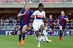 UEFA Women's Champions League 2017/2018.<br /> Quarter Finals.<br /> FC Barcelona vs Olympique Lyonnais: 0-1.<br /> Lieke Martens vs Griedge M'Bock Bathy.