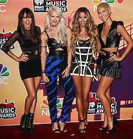 LOS ANGELES, CA, USA - MAY 01: Natasha Slayton, Lauren Bennett, Emmalyn Estrada, Paula Van Oppen, G.R.L., GRL in the press room at the iHeartRadio Music Awards 2014 held at The Shrine Auditorium on May 1, 2014 in Los Angeles, California, United States. (Photo by Celebrity Monitor)