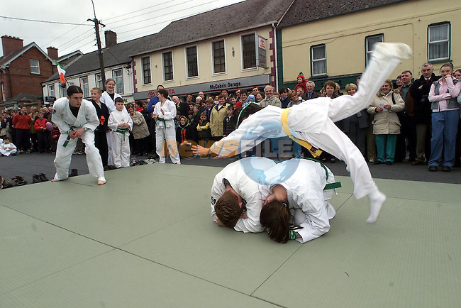 Jiu Jutsiu demonstrations in the Ardee St. Patrick's day parade..Picture Newsfile