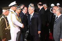 LIMA,PER&Uacute;-18/04/2013. Arribo del Presidente de Chile, Sebastian Pi&ntilde;era, para la reuni&oacute;n UNASUR en Palacio de Gobierno.<br />  &copy;ANDINA/OscarFarje/NortePhoto
