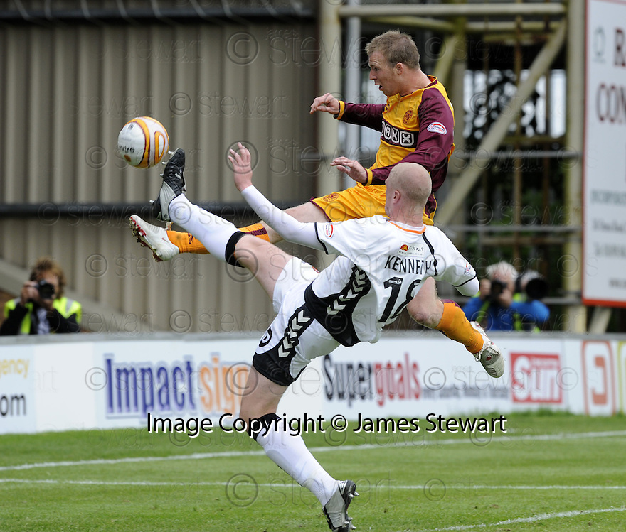 23/08/2008  Copyright Pic: James Stewart.File Name : sct_jspa12_motherwell_v_dundee_utd.DAVID CLARKSON HITS  THE BAR FROM CLOSE RANGE.James Stewart Photo Agency 19 Carronlea Drive, Falkirk. FK2 8DN      Vat Reg No. 607 6932 25.James Stewart Photo Agency 19 Carronlea Drive, Falkirk. FK2 8DN      Vat Reg No. 607 6932 25.Studio      : +44 (0)1324 611191 .Mobile      : +44 (0)7721 416997.E-mail  :  jim@jspa.co.uk.If you require further information then contact Jim Stewart on any of the numbers above........