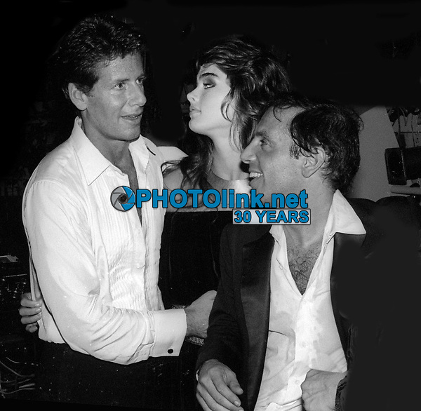 Calvin Klein Brooke Shields Steve Rubell 1981<br /> Photo By Adam Scull/PHOTOlink.net