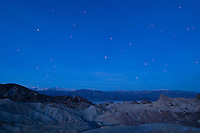 Star streaks at Zabriskie Point, Death Valley National Park