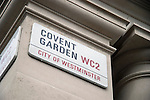 Covent Garden WC2 London City of Westminster street sign on wall