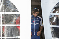 Race winner Fernando Gaviria (COL/Quick Step Floors) post race. Waiting for heading to the podium. <br /> <br /> 102nd Kampioenschap van Vlaanderen 2017 (UCI 1.1)<br /> Koolskamp - Koolskamp (192km