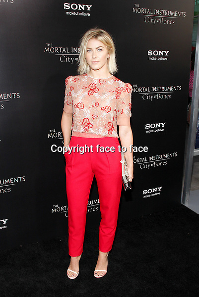 Julianne Hough at the Los Angeles premiere of &quot;The Mortal Instruments: City Of Bones&quot; held at the Cinerama Dome in Hollywood in Los Angeles, California, 12.08.2013.<br /> Credit: PopularImages/face to face