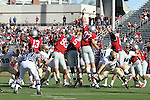 The Washington State defensive line attempt to block a Bobcat field goal attempt during the Cougars 23-22 comeback victory over Montana State at Martin Stadium on the WSU campus on September 11, 2010.